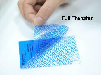 Full Transfer Label by Hoefon Security Seals