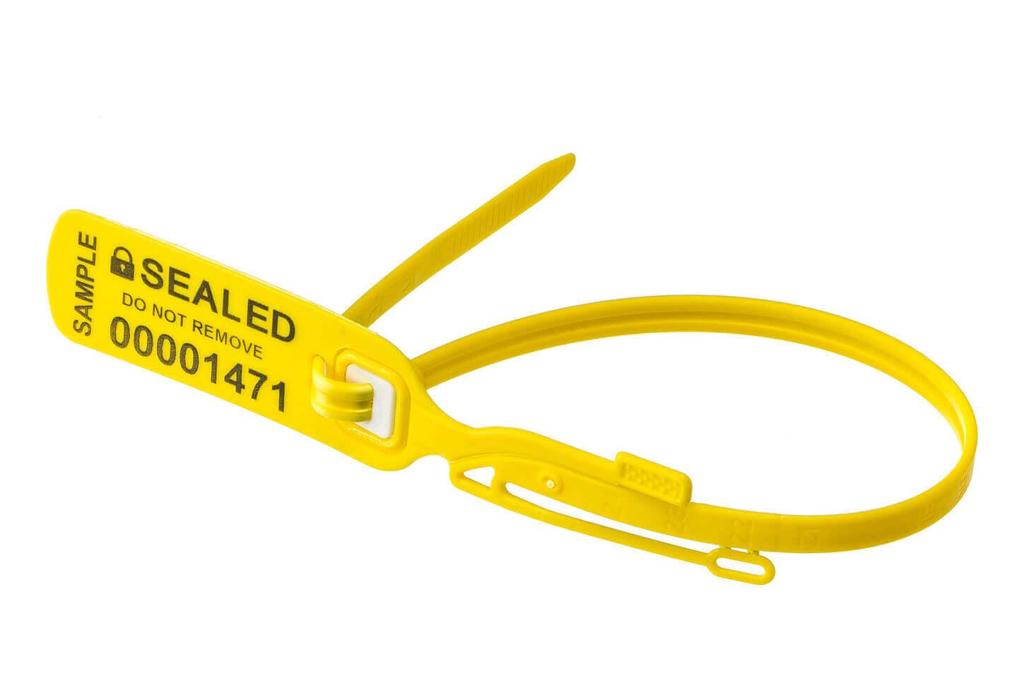Plastic Seal DS-F 400 Yellow by Hoefon Security Seals