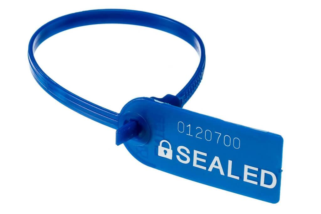 Plastic Ring Seal Blue by Hoefon Security Seals